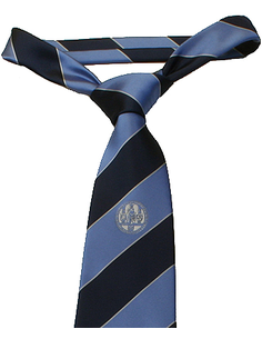 Tie polyester dark/light blue