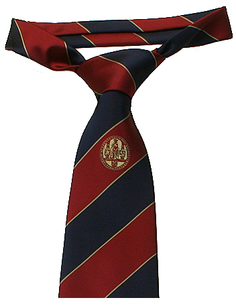 Tie polyester dark blue/red