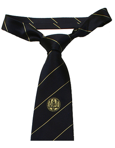 Tie silk dark blue/gold