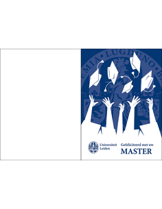 Congratulation card Master NL incl. envelope