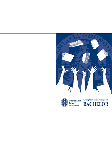 Congratulation card Bachelor UK incl. envelope