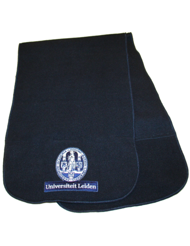 Fleece shawl dark blue