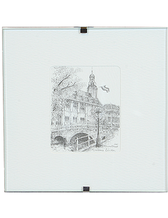 Etching Acad. Building 10x10