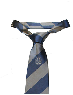 Tie silk blue/grey