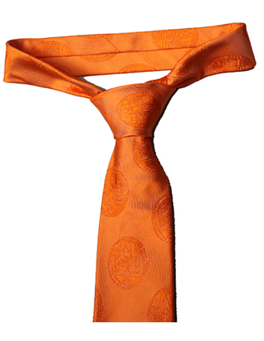 Tie silk solid orange